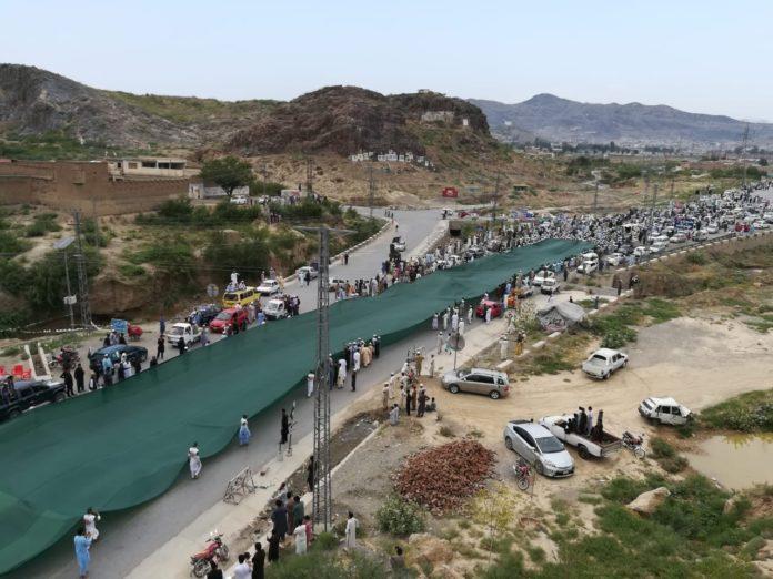 3600ft long Pakistani flag march held in Landikotal - Fata Voice